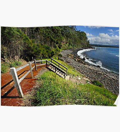 Bannister Point - Mollymook Poster