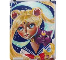 Pop Surrealism Sailor Moon and Luna Fan Art iPad Case/Skin