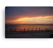 The Dead Sea Sunset, Jordan Canvas Print