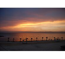 The Dead Sea Sunset, Jordan Photographic Print