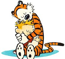 Calvi and hobbes Hugs by JackCustomArt