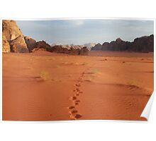 Footprints, Wadi Rum, Jordan Poster