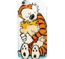 Calvi and hobbes Hugs iPhone Case/Skin