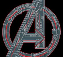 Avengers Logo by Jonathan Oldfield