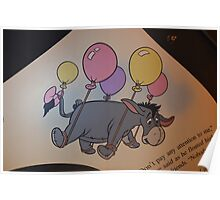 Disney Winnie The Pooh Disney Birthday Disney Eeyore Balloons Poster