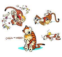 Calvin and Hobbes all Lovly by JackCustomArt