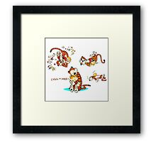 Calvin and Hobbes all Lovly Framed Print
