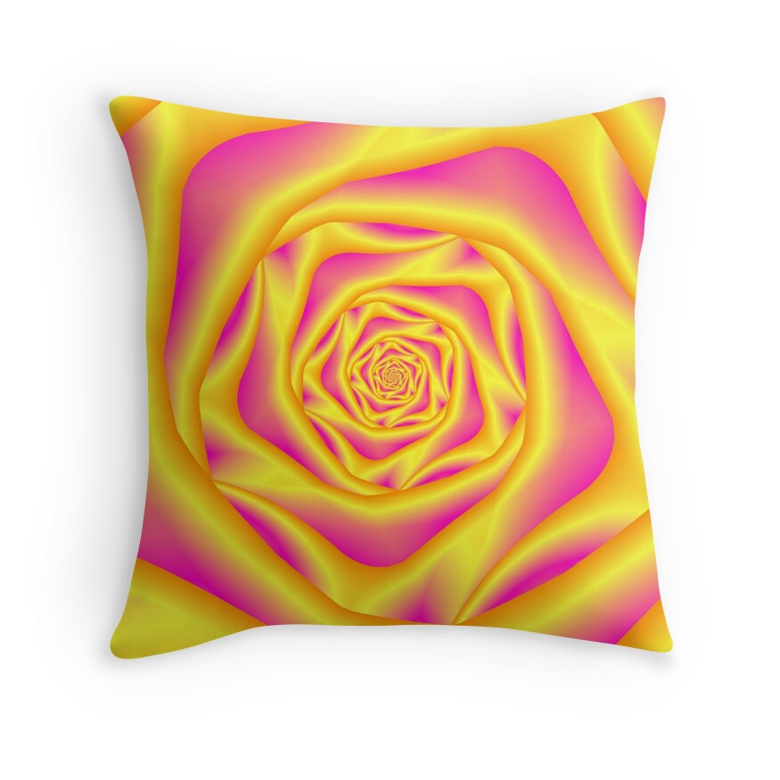 Yellow And Red Decorative Pillows :