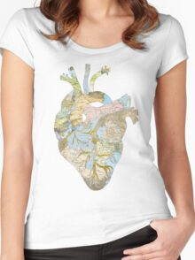 A Traveler's Heart (N.T.) Women's Fitted Scoop T-Shirt