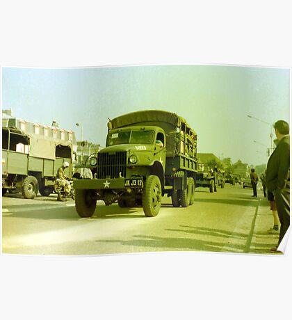 GMC 6x6 Truck Poster