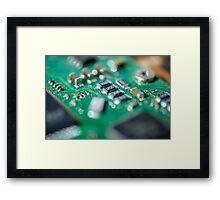 Green Computer Board Macro Framed Print