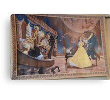 Disney Beauty and the Beast Characters Disney Belle Princesses Metal Print