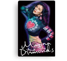 Marina And The Diamonds Black Canvas Print
