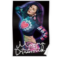 Marina And The Diamonds Black Poster