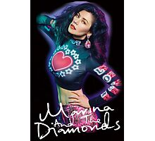 Marina And The Diamonds Black Photographic Print