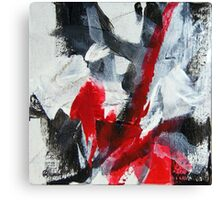 Black White and Red Canvas Print