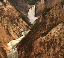 Lower Yellowstone Falls from Artist Point, Yellowstone National Park by DArthurBrown