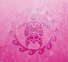 Pink Turtle Sun by BailoutIsland