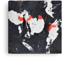 Black White and Red V Canvas Print