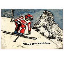 Ski Zermatt Photographic Print