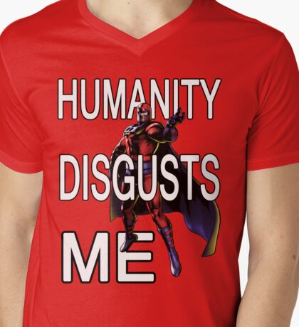 Magneto - Humanity Disgusts Me Mens V-Neck T-Shirt