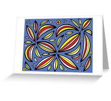 Schauf Abstract Expression Yellow Red Blue Greeting Card