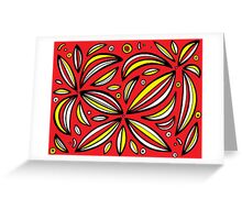 Cravalho Abstract Expression Yellow Red Greeting Card