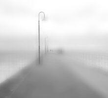 Pier in Adelaide in B&W by Imi Koetz
