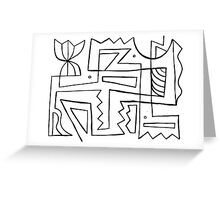 Koelle Abstract Expression Black and White Greeting Card
