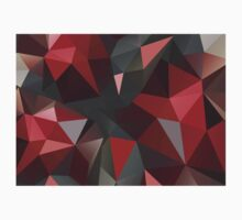 Abstract red and gray triangles Kids Clothes