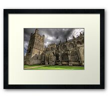 April weather at the cathedral Framed Print