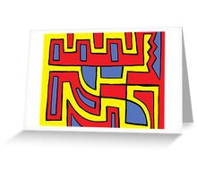 Puccini Abstract Expression Yellow Red Blue Greeting Card