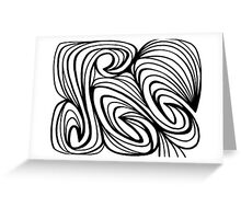 Ryland Abstract Expression Black and White Greeting Card