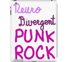 Neurodivergent Punk Rock iPad Case/Skin