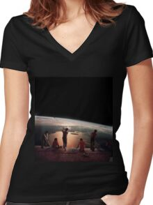 GOLFERS. Women's Fitted V-Neck T-Shirt