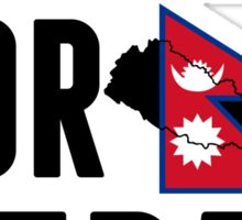 UNITED FOR NEPAL - Earthquake In Nepal Sticker