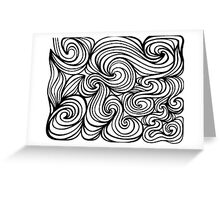 Jaworowski Abstract Expression Black and White Greeting Card