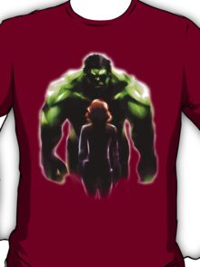 MARVEL - Black Widow and Hulk Romance T-Shirt