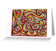 Shinabery Abstract Expression Yellow Red Black Greeting Card