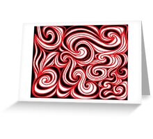Harney Abstract Expression Yellow Red Black Greeting Card