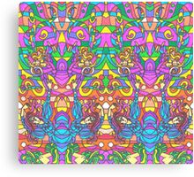 Happy Colors and lines Canvas Print