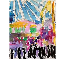 Carnival Stalls Photographic Print