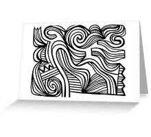 Critchley Abstract Expression Black and White Greeting Card