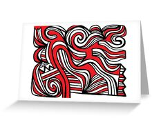Ploetz Abstract Expression Red White Black Greeting Card