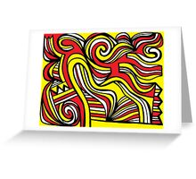 Giorgianni Abstract Expression Yellow Red Black Greeting Card