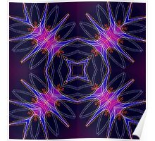 Purple Shapes Poster