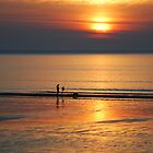 Sunset at the beach by Photodx