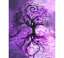 Tree Collage (Purple) Photographic Print