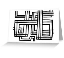 Teo Abstract Expression Black and White Greeting Card