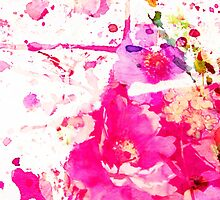 flower and splash in pink by agnès trachet